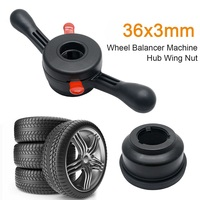 Black Hub Wing Clamping Nut Wheel Balancer Car Tire Machine Quick Release 36mm