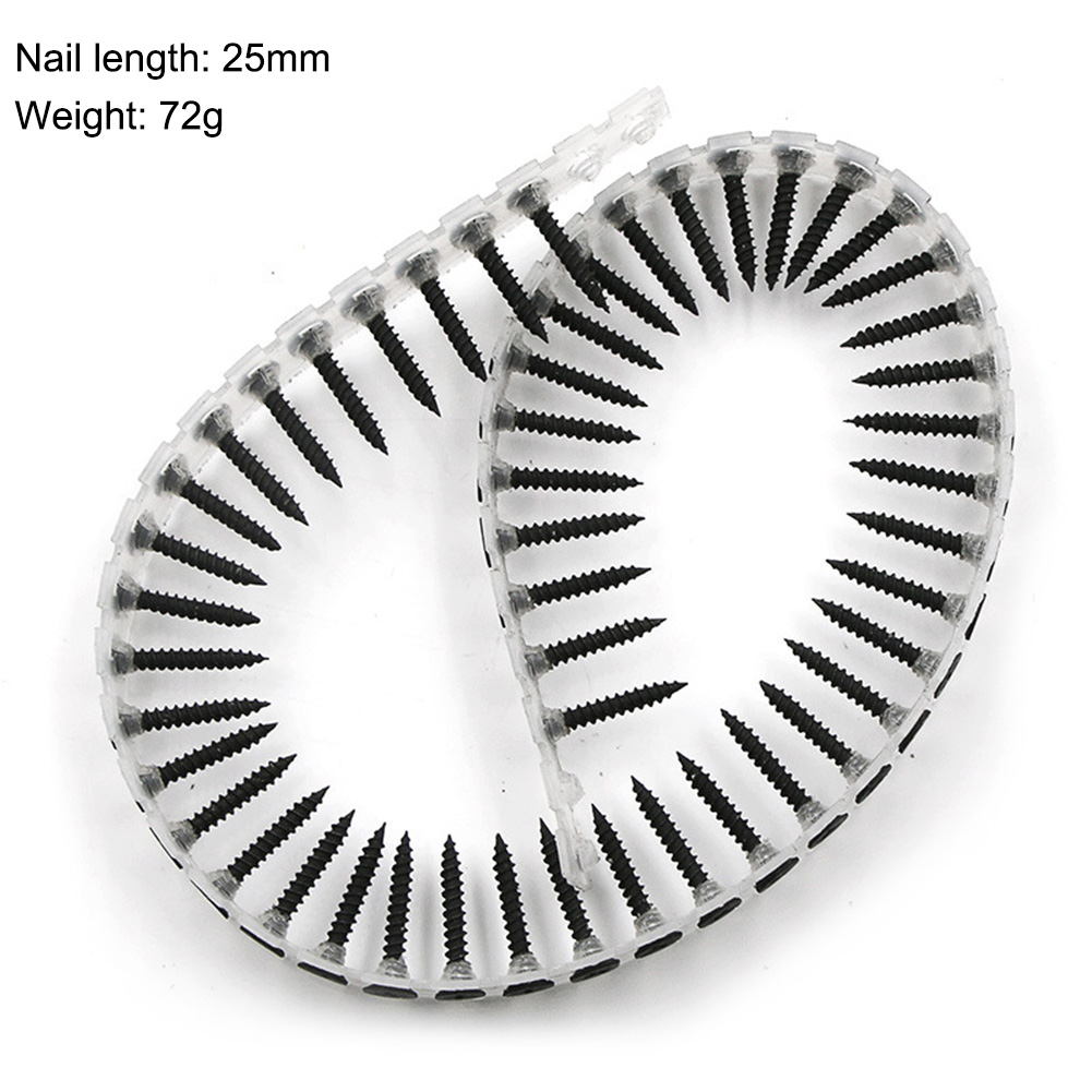 Screw Nail Chain With 50pcs Screws For Chain Nail Gun Woodworking Power Tool Parts Drill Attachment For Wood Plasterboard D10