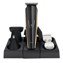 Jinding 5 in 1 Multi-Functional Hair Clipper Set with Comb Oil Heads Nose Ear Trimmer Styling Beard Washable Eu P