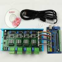 MACH3 USB CNC 5 Achsen 100KHz Glatt Stepper Motion Control karte breakout board + TB6600 4 Achse 4.5A Stepper motor Fahrer bord