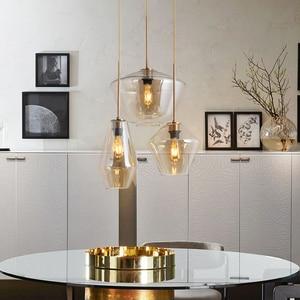 Image 3 - LED Glass Pendant Light For Dining Room Kitchen Design Vintage Retro Decorative Pendants Lighting Industrial Nordic Hanging Lamp