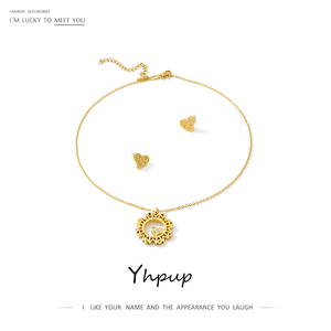 Yhpup Sweet Heart Necklace Ear