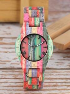 Watches Wooden Handmade Women Quartz Bracelet Ladies' Luxury Bamboo Natural Analog
