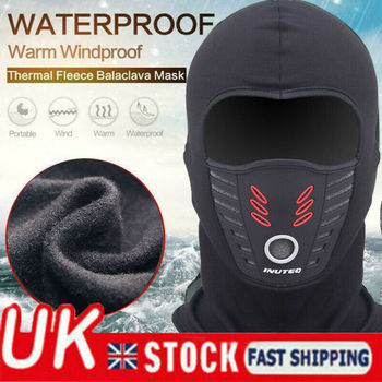 Waterproof Windproof Motorcycle Bike Thermal Fleece Balaclava Face Mask Helmet