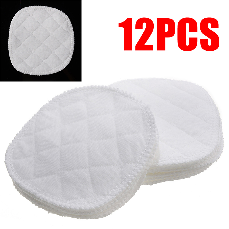 12pcs 10cm Soft Nursing Breast Pads Washable Baby Breastfeeding Breast Pad Reusable Absorbent Nursing Pad Cotton