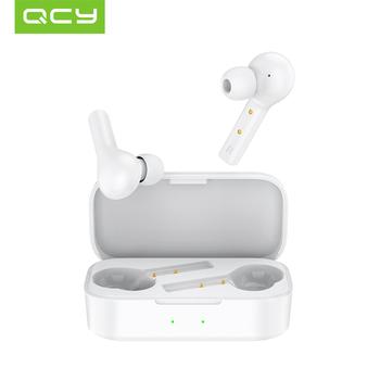 QCY T5 bezprzewodowy sportowy zestaw słuchawkowy Bluetooth 5 0 sterowanie dotykowe minisłuchawki stereo HD rozmowa 380mAh duża bateria tanie i dobre opinie Technologia hybrydowa wireless Zaczep na ucho 108±3dBdB 0Nonem Do Gier Wideo Wspólna Słuchawkowe Dla Telefonu komórkowego