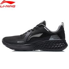 Li-ning homem elemento macio almofada tênis de corrida leve confortável forro básico ginásio esporte sapatos de renda arhr077