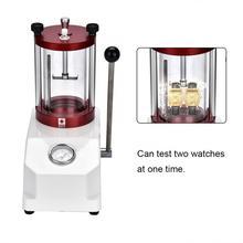 Alta qualidade relógio à prova dwaterproof água testador ferramenta 2 relógios caso resistência máquina de teste pressão relógio ferramenta reparo para relojoeiro