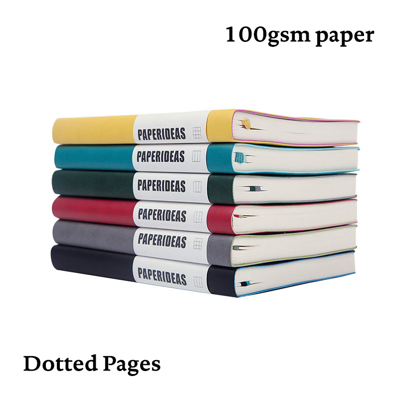 Dot Grid Bullet Journal A5 Soft Cover Notebook Dotted Bujo Travel Planner Diary