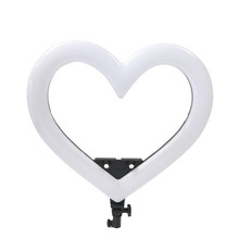 19 Inch RGB LED Ring Light Heart Shaped With Charge Cable For Live Streaming