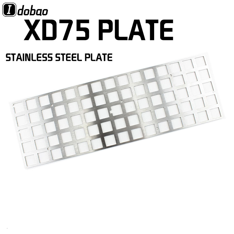 Stainless Steel Plate Custom Mechanical Keyboard For 60% Keyboard Plate Support Xd75re Xd75re Xd75 Mx Plate Xd75am