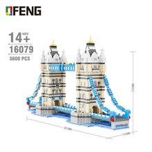 Toys Model-Bricks Building-Blocks Bridges Architecture London Balody Educational Micro Diamond
