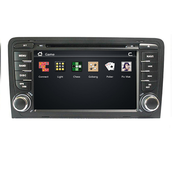 2 din Head unit Car multmedia DVD player GPS navigation autoradio For Audi A3 S3 car PC Radio stereo Steering wheel BT image