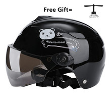 Cute Children Motorcycle Helmet Summer cool  Comfortable Auto Motor Safety Bike gloss black