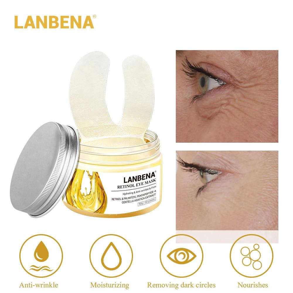 Eye-Mask LANBENA Face Moisturizing Hyaluronic-Acid Anti-Puffiness 50pcs