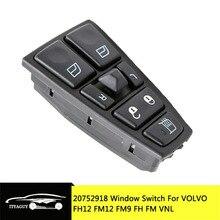 Электрический оконный выключатель для VOLVO FH12 FM12 FM9 FH FM VNL 20752918 20953592 20455317 20452017 21354601 21277587 20568857 21543897