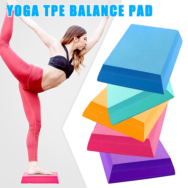 New Balance Pad Board TPE Yoga Mat Stability Cushion Exercise Trainer Anti-slip For Training LMH66