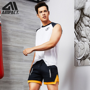 Image 2 - Aimpact Fashion Casual Shorts for Men Athletic Running Workout Gym Training Shorts Sport Soft Homewear Short Trunks AM2209