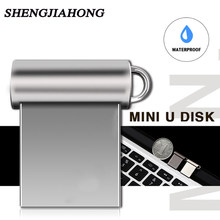 Mini Pen Drive 32 Gb Pendrive Metalen Usb Flash Drive Cles Usb 3.0 Flash Memory Stick 16 Gb Sleutel Usb stick 128 Gb 64 Gb 8 Gb Gratis Schip(China)