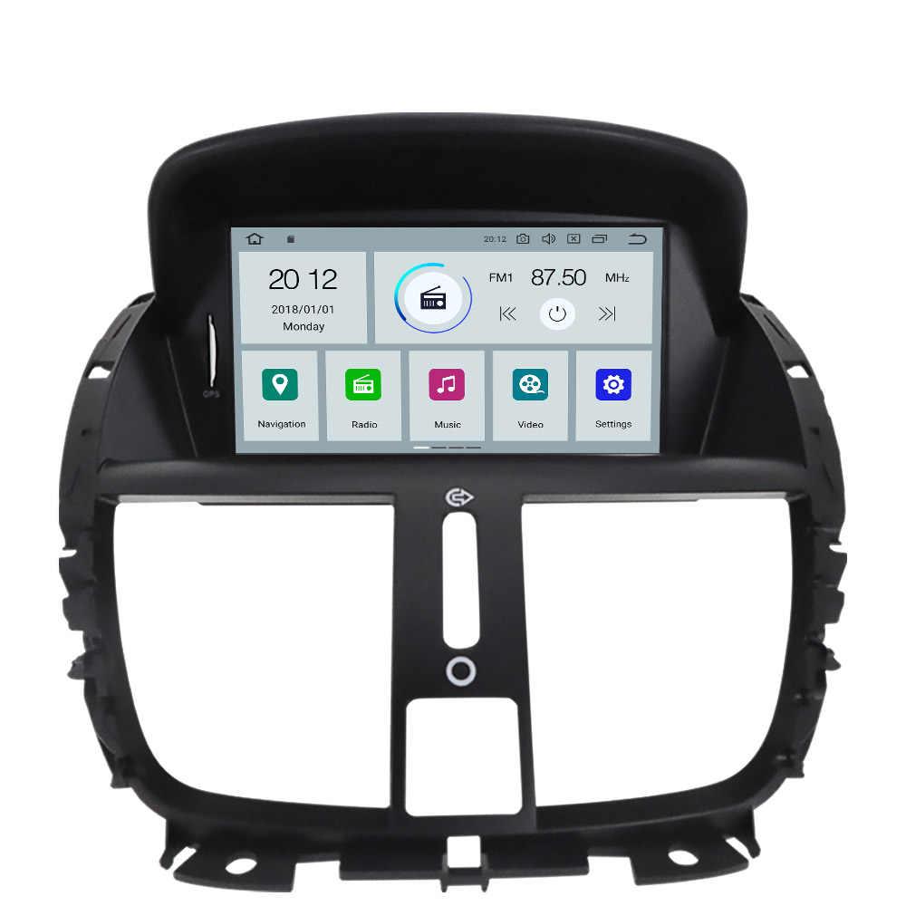 AOTSR Android 10 2 + 16G Auto Lettore 2 Din Unità di Testa Per Peugeot 207 2008 - 2014 Auto GPS Navi Nastro Registratore DSP Radio Multimedia