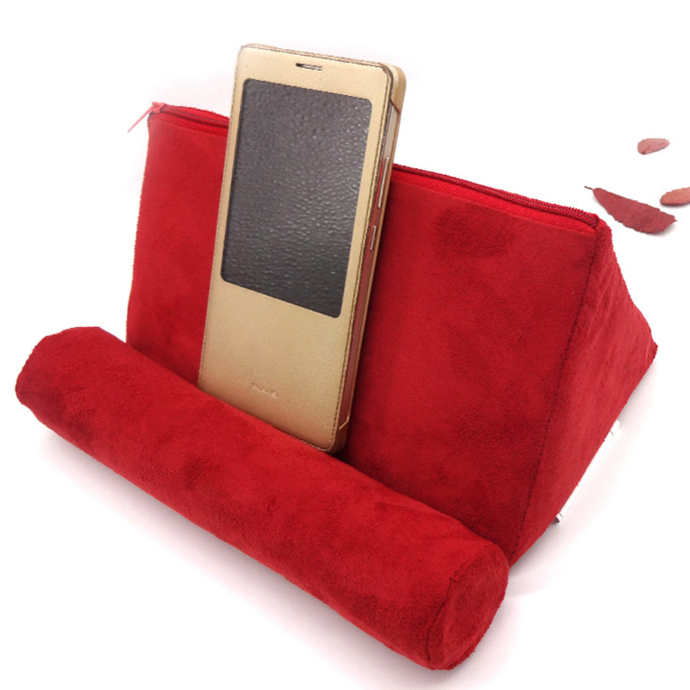 Black LUCKEYE Book Support Mobile Ipad Bracket Multi-Angle Soft Reading Bracket Adult Multi-Functional Pillow Children Reading Pillow