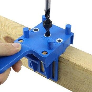 Pasador de carpintería, taladro de perforación, herramientas de sierra, taladro manual, brocas de guía, madera con casquillo de Metal, plantilla para 6 8 10mm