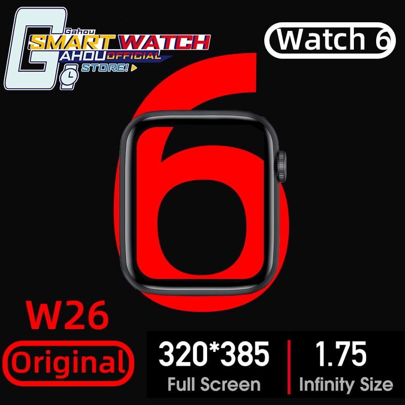 IWO-reloj inteligente W26 para hombre y mujer, pulsera con llamadas, bluetooth, para IOS, Android, Huawei, OPPO, xiaomi, PK, Amazfit GTS GT 2, HW12, X6, T500, 2020