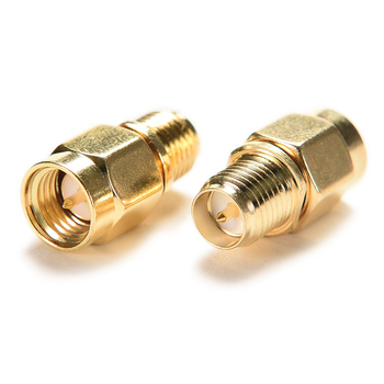 JETTING New High Quality 1pc SMA Male Plug to RP-SMA Female Jack RF Coax Adapter convertor Straight goldplated image