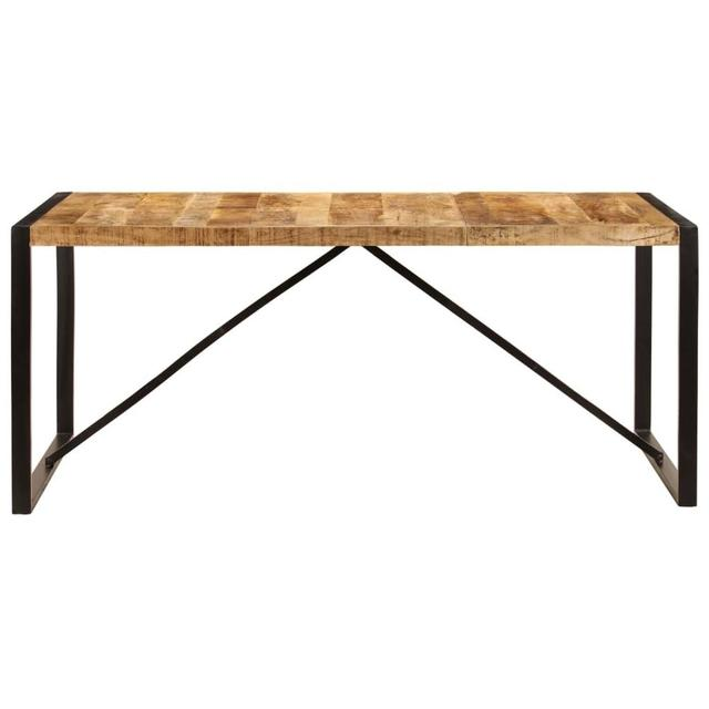 """【USA Warehouse】Dining Table 70.9""""x35.4""""x29.5"""" Solid Mango Wood 1"""