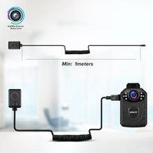 BOBLOV KJ21 Pro Body Cam pilot dotykowy ekran HD1296P KJ21 zaktualizowana kamera noszona na ciele Mini kamera zewnętrzny przycisk obiektyw BodyCam