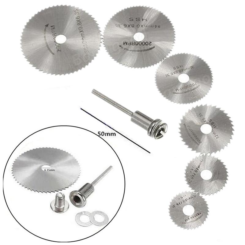 1 Set Professional High Speed Steel Rotary Blade Mandrel Carbide Alloy Circular Saw Blade Rotary Tool Cutting Aluminum Cutoff