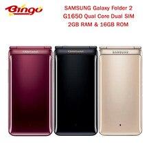 Original Samsung Galaxy Folder2 carpeta 2 G1650 Quad Core Dual SIM 2GB RAM 16GB ROM 8.0MP 3,8