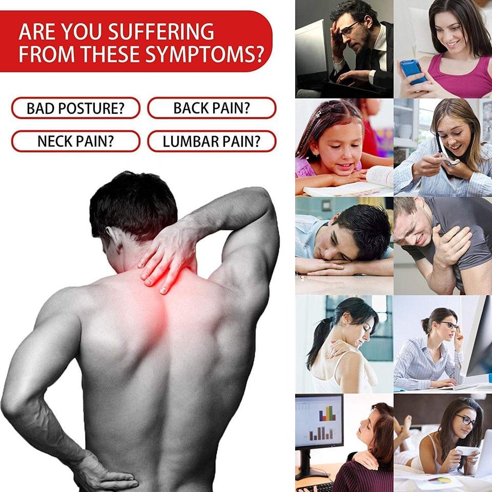New Posture Corrector Spine Back Shoulder Support Corrector Band Adjustable Brace Correction Humpback Back Pain Relief-4