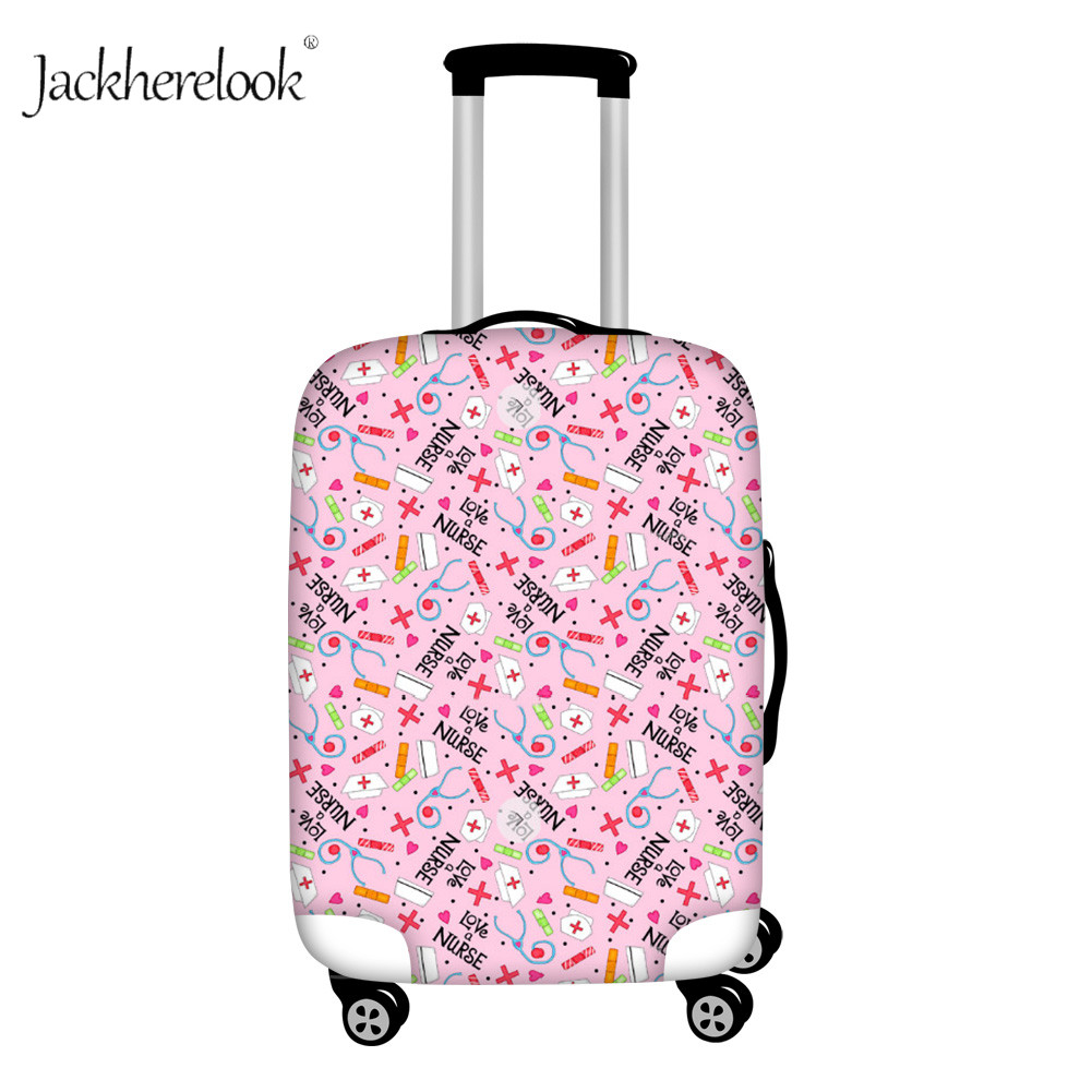 Jackherelook Nurse Hat Puzzle Suitcase Cover Thicken Luggage Bag Medical Equipment Dustproof Cover Apply 18-30 Inch Baggage Case