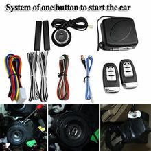 Universal 12V 8Pcs Car Alarm Start Security System PKE Anti-theft Engine Start Stop Button Keyless Entry Push Button Remote Kit 9pcs car suv keyless entry engine start alarm system push button remote starter stop auto