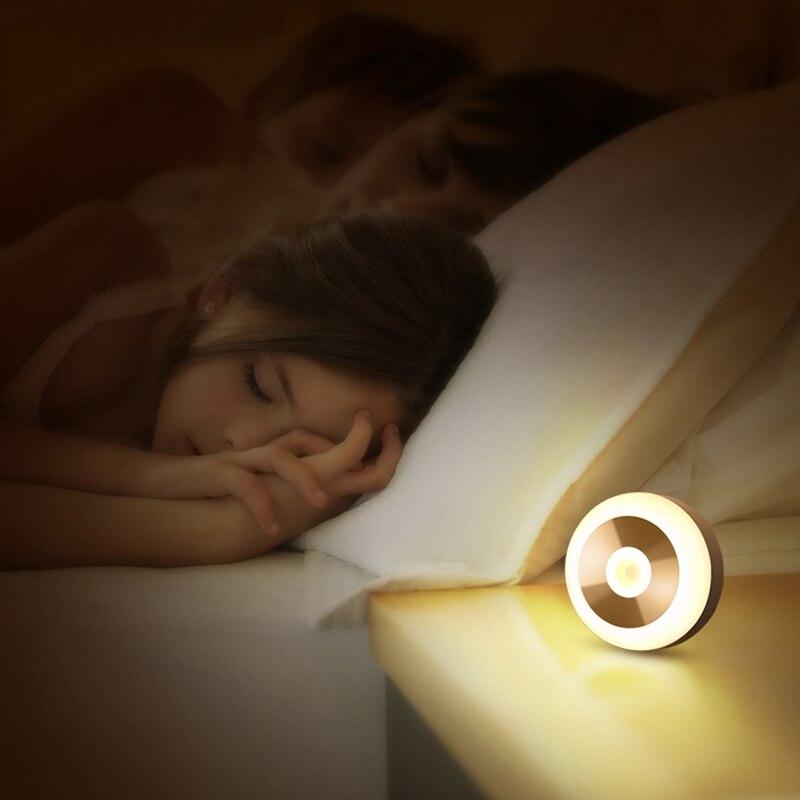 Led Induction Night Light Lamp Smart Control Smart Human Body Sensor for Bedroom Stairs Toilet 4 Pcs 3000K Warm Light