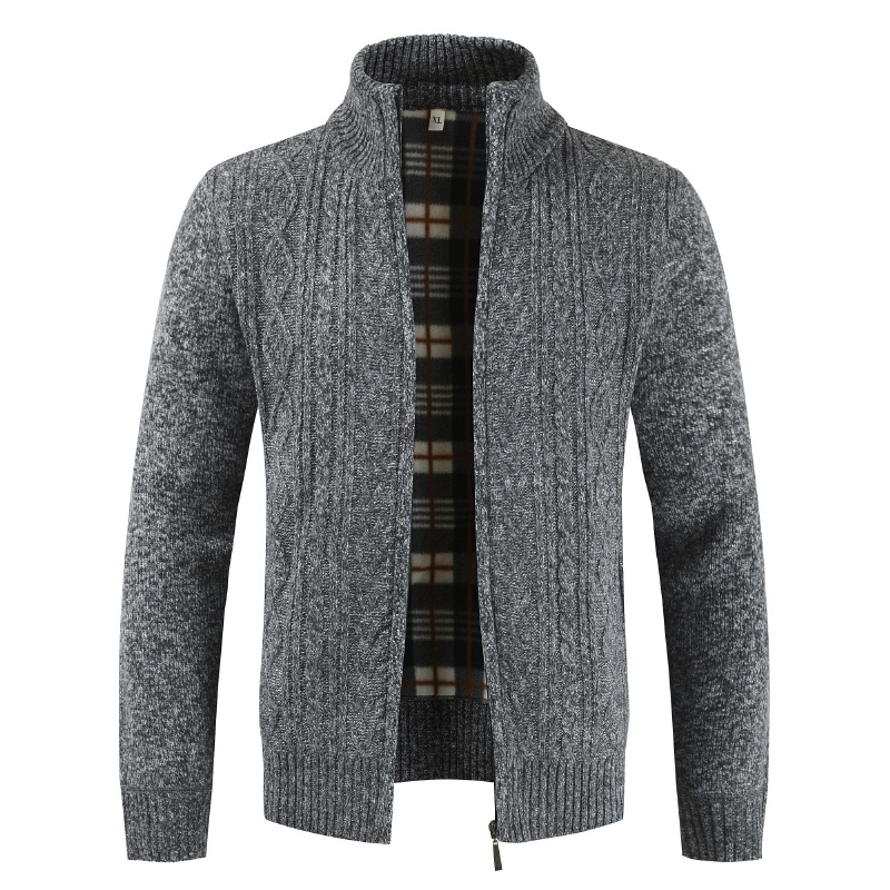 2020 Autumn Cardigan Men Sweaters Thick Warm Knitted Sweater Mens Jackets Coats Male Clothing Casual Knitwear