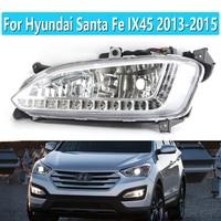12V luz LED de conducción diurna impermeable lámpara de niebla DRL para Hyundai Santa Fe IX45 2013-2015 conjunto de Faros para automóvil