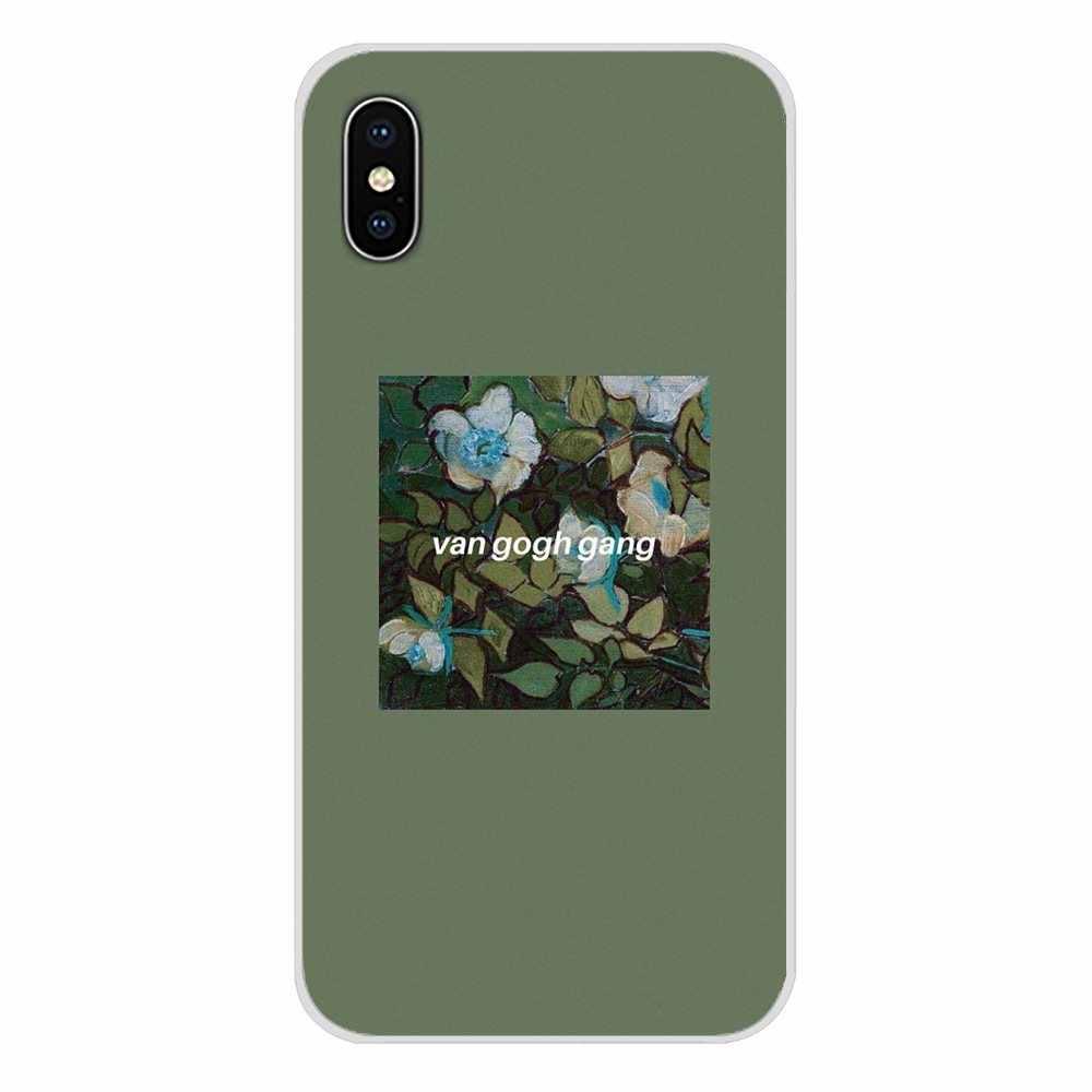 Van Gogh Arte Spray Para LG G3 G4 Mini G5 G6 G7 Q6 Q7 Q8 Q9 V10 V20 V30 X poder 2 3 K10 K4 K8 2017 Acessórios Shell Telefone Covers
