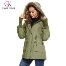 Grace Karin Women Parka Winter Warm Jacket Outwear – Faux Fur Hooded Coat Fleece Lined Womens Jacket and Coat Parka