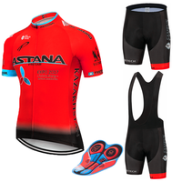 Nouveau 2019 rouge Astana cyclisme équipe jersey 9D vélo ensemble short et haut séchage rapide hommes vélo vêtements équipe pro vélo Maillot Culotte