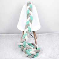 1 м/2 м/3 м длина noary узел новорожденный бампер длинная завязанная коса Подушка новорожденная кроватка детская кровать бампер в кроватку Детс...
