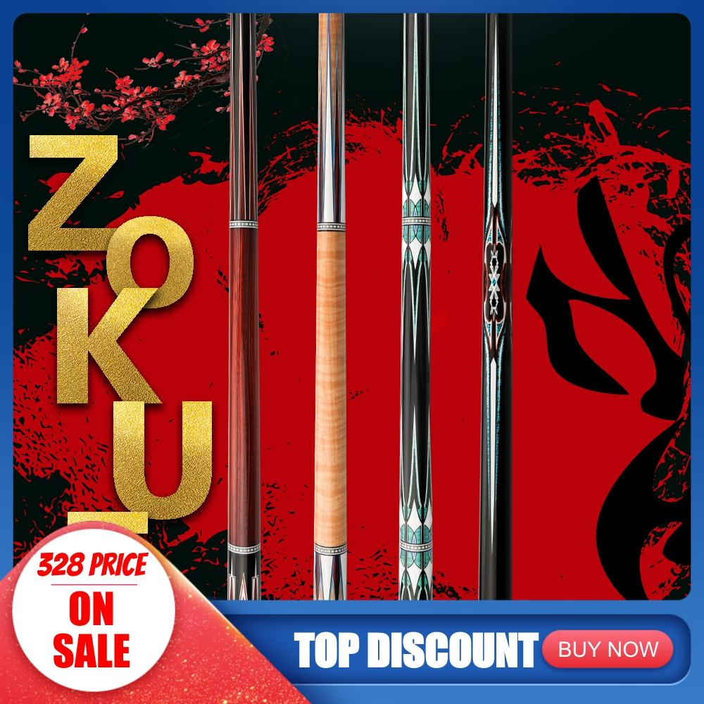 ZOKUE Billiard Cue Korean 3 Cushion Cue Carom Cue Taper 12mm SKY-FAY Tip 142 Cm Hard Maple Shaft Fit Extension