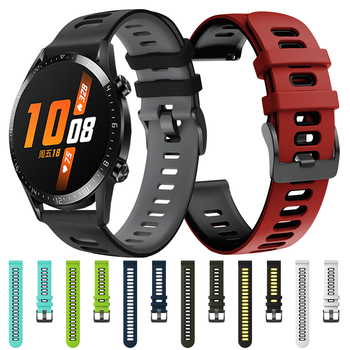 MagicWatch 2 Correa Silicone Band for HUAWEI WATCH GT 2 46mm 42mm Sport Edition HONOR Magic Strap Watchband Bracelet ремешок 22mm watch strap for huawei honor magic watch 2 gt 2 46mm gt 42mm genuine leather band silicone bracelet watchbands ремешок