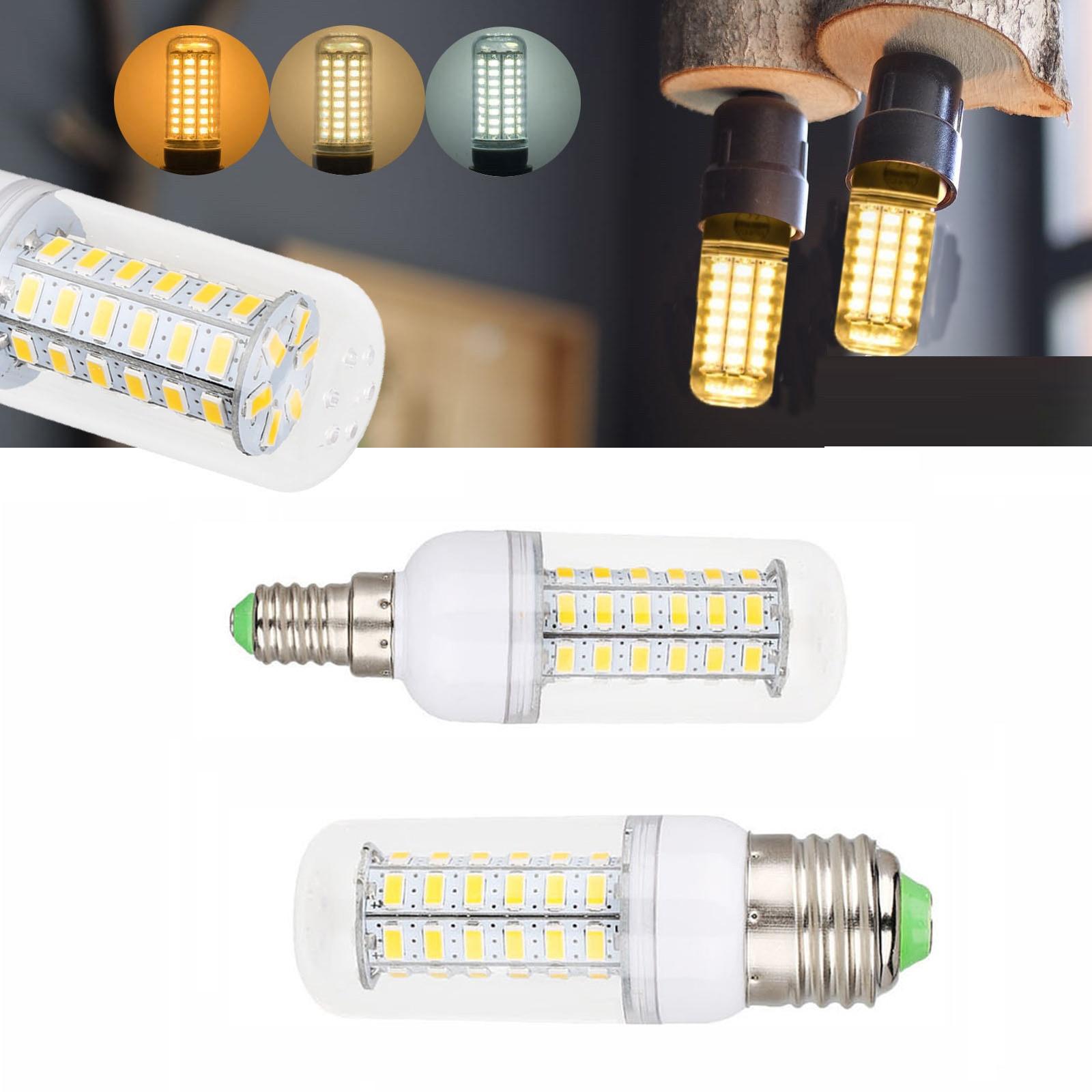 E27 LED Lamp E14 LED Bulb SMD 5730 220V Corn Bulb 24 36 48 56 69 72LEDs Chandelier Candle LED Light For Home Decoration Ampoule