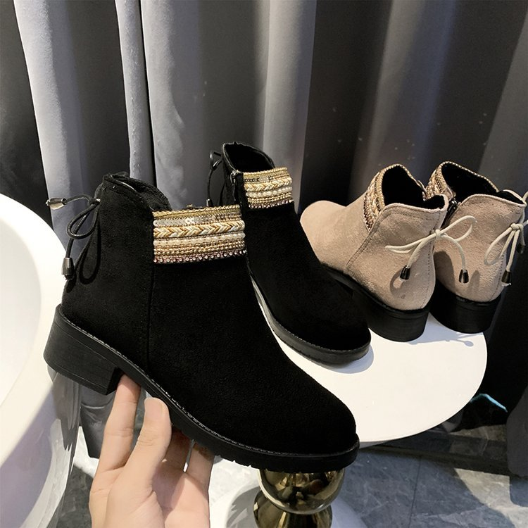 HKJL Genuine Leather Women ankle Boots motorcycle Boots Female Autumn Winter Shoes Woman punk Motorcycle Boots Z299 18