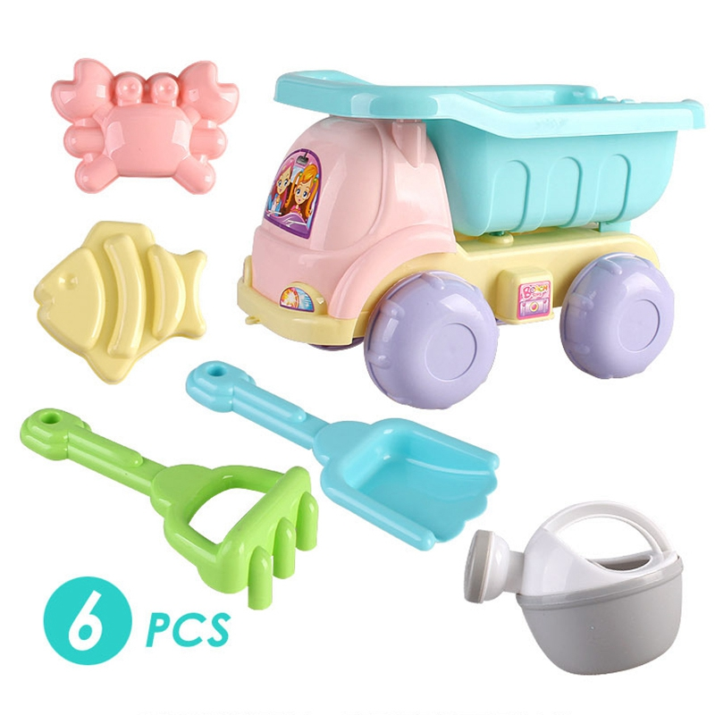 Hot 6 Sets Of Children Playing Sand Dredging Tools Playing Water Beach Toys