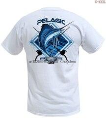 Venda quente engraçado pelágico branco sailfish premium t camisa branca