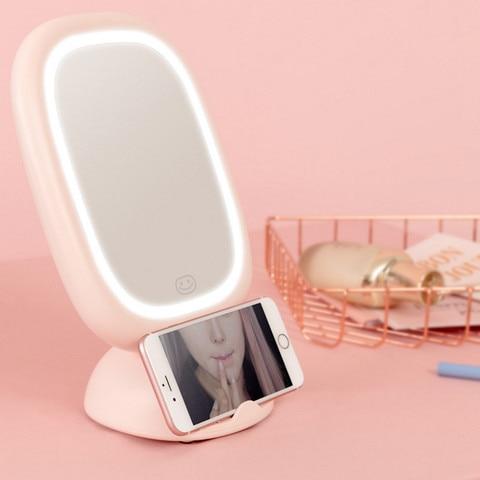 Destac vel led espelho de maquiagem recarreg vel parede pendurado espelho estudante dormit rio maquiagem
