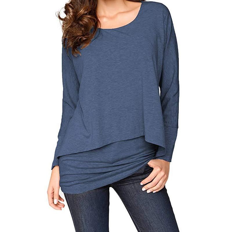 Женская рубашка, свободные рубашки с длинным рукавом, мешковатые, одноцветные, размера плюс, летние женские топы, модные